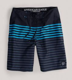9af8eda1f0 AE Striped Board Short Mens Outfitters, Swim Shorts, American Eagle  Outfitters, Men And