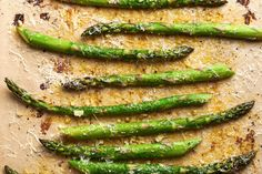 Roasted Parmesan Asparagus | Kitchn Ways To Cook Asparagus, Parmesan Asparagus, Asparagus Recipe, Fun Easy Recipes, Whole Food Recipes, Cooking Recipes, Healthy Recipes, Dinner Recipes, Fruit Dishes