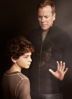 Kiefer Sutherland and David Mazouz | #Touch / already hooked and I love Kiefer Sutherland's appearance even he is not Jack Bauer!