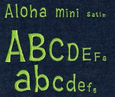 547 Aloha Mini Satin Font - Jolson's Designs