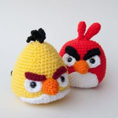 Angry Birds Crochet Pattern Yellow Bird by theitsybitsyspider