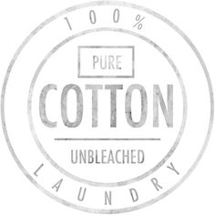 Vintage 100% Pure Cotton Unbleached Logo. Laundry Typography Stamp French