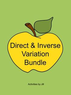 Worksheets Printable Direct And Inverse Variation Worksheet With Answer Key direct and inverse variation chain activity variables word everything you need to teach your algebra students is included in this bundle ccss hsa sse ced