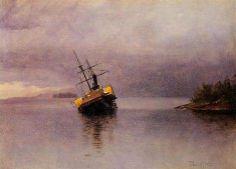 Wreck of the Ancon in Loring Bay Alaska - Albert Bierstadt