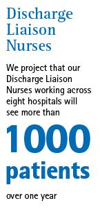 Discharge Liaison Nurses in east of England  Our Discharge Liaison Nurses work in acute hospitals to support the discharge of patients to their preferred place of care.    These nurses form a link between patients and families, the hospital and a whole range of primary, secondary, independent and voluntary care providers.