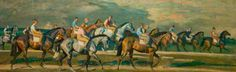 Absolutely love this. Alfred Munnings of course. Coming off the Heath exercising the horses Newmarket