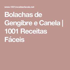 Bolachas de Gengibre e Canela | 1001 Receitas Fáceis