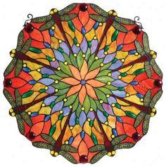 art glass.  reminds me of a kaleidoscope.