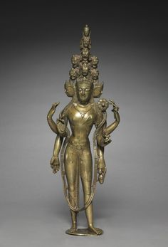 Western Tibet, mid 11th century, gilt bronze with silver inlay, Overall: 39.40 x 14.00 x 7.60 cm (15 1/2 x 5 1/2 x 2 15/16 inches). Andrew R. and Martha Holden Jennings Fund 1975.101