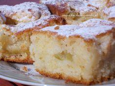 maslankowe ciasto z rabarbarem