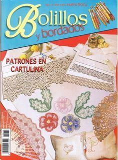 Album Archive - Bolillos y Bordados 005 Bobbin Lace Patterns, Crochet Magazine, Lace Making, Pattern Books, Journal, Tatting, Needlework, Hand Weaving, Album