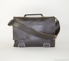 Faux Leather Messenger Bag by AlchemyBrand on Etsy, $65.00