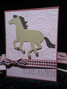 "western wedding invitations made from cricut | Horse was cut at 3 1/4"" from the Old West cartridge."