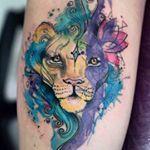 "269 Likes, 14 Comments - Deborah Deh Soares (@dehtattoo) on Instagram: ""Watercolor Lion and sunflower. Instagram hashtags #tattoo #tattoos #tatuagem #tatuaje…"""
