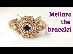 Macrame bracelet tutorial: The Meliara jewelry set - Hướng dẫn đan vòng tay thủ công. Hi there, this Macrame bracelet tutorial will show you how to make the finally element of the Meliara jewelry set. Macrame Bracelet Patterns, Macrame Rings, Macrame Bracelet Tutorial, Macrame Necklace, Macrame Knots, Macrame Patterns, Macrame Bracelets, Handmade Bracelets, Hemp Jewelry