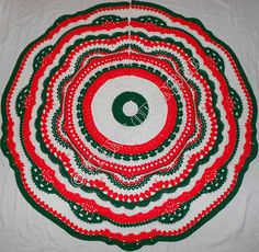 This is a Christmas tree skirt written pattern.