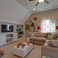 a great space for the kids to hang out with their friends toll rh pinterest com Game Room Media Room Furniture