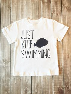 106aa1e76d Items similar to Toddler Boys, Just Keep Swimming, Finding Dory, Finding  Nemo, Toddler Life, Navy and White - Free Shipping on Etsy