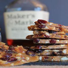 """Bourbonberry"" - Whiskey Brittle w/Almonds & Cranberries"