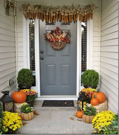 Fall Front Porch Corn Garland