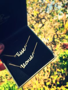 Naam ketting name necklace gold goud