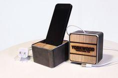 Yorkwood 100% sustainable Iphone 5-dock #sustainable #gadgets www.yorkwood.com