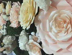 Pastel paper flowers for our recent bridal show. Paper Art Design, Pastel Paper, Bridal Show, Paper Flowers, Backdrops, Birthdays, Gift Ideas, Wall Art, Rose