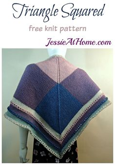 Knitting Patterns Skirt Triangle Squared - free knit pattern by Jessie At Home Knitting Designs, Knitting Patterns Free, Knit Patterns, Free Knitting, Free Pattern, Knitting Ideas, Bind Off Knitting, Knit World, Triangle Square