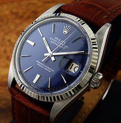 Rolex Datejust: blue dial