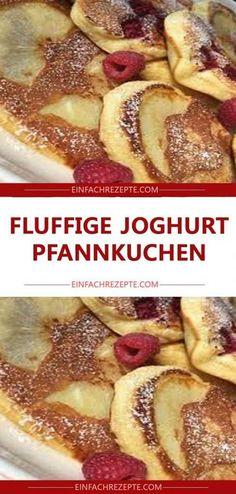 Recipes Snacks On The Go Fluffige Joghurt-Pfannkuchen 😍 😍 😍 Yogurt Pancakes, Fluffy Pancakes, Pumpkin Spice Cupcakes, Spaghetti Squash, Healthy Snacks, Healthy Recipes, Sour Cream, Granola, Easy Meals