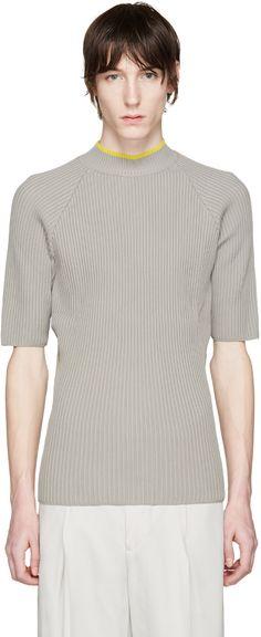 CMMN SWDN - Grey Ribbed Shea Sweater