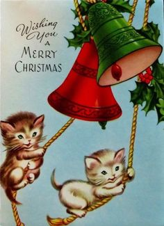cat christmas cards christmas bells vintage christmas cards christmas tree ornaments christmas time xmas holiday christmas graphics vintage greeting