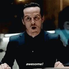 Sherlock Moriarty Awesome GIF - SherlockMoriarty Awesome GIFs