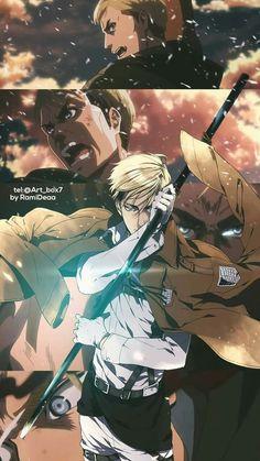 Erwin Smith attack on titan Erwin Attack On Titan, Attack On Titan Anime, Manga Anime, Anime Guys, Dope Wallpapers, Animes Wallpapers, Dibujos Anime Chibi, Fan Art, Anime Kawaii
