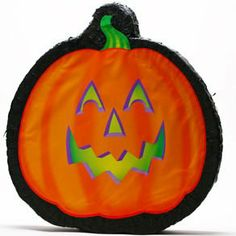 """Pumpkin Pinata by Century Novelty. $16.95. Haunted Halloween Games! The pumpkin pinata is a fun game for any Halloween party. Just take turns swinging at the pinata until it breaks and candy falls out. There is no better way to get your Halloween candy! Jack o lantern pinata is 19"""" long, 18"""" wide and 3"""" thick. Candy sold separately. These unique Halloween supplies aren't just a great surprise for your trick or treaters, they are also a fun addition to any Halloween par..."""