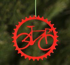 Speedy Road Bike Red Bicycle Christmas Tree by ShineOnSportyGirl,