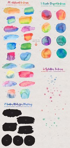 Watercolor Texture Kit by everytuesday on Creative Market
