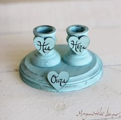 Use in a lighter brown or tan color.  Unity Candle Set Holder Nautical Beach Wedding by braggingbags, $39.99