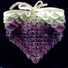 By Midknight on WordPress: Dragon Scale Head Kerchief - free crochet pattern by Jennifer Christensen.