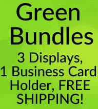 Bundle Specials with GREEN! 3 Stack Displays + 1 Business Card Holder + FREE SHIPPING!