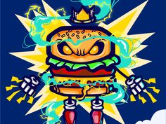Burgerking designed by Penpencils. Silver Spring, Burger, Illustration, Art, Marina Del Rey, Art Background, Illustrations, Kunst, Performing Arts