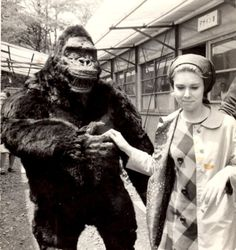 """On the set of """"King Kong Escapes"""" (1967)."""