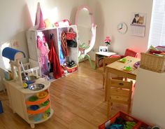 Role play area for little ones.