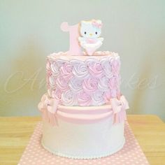 Pink hello kitty ballerina birthday cake 6th Birthday Cakes, Custom Birthday Cakes, Birthday Cake Pictures, Birthday Cake Girls, Ballerina Birthday, Torta Hello Kitty, Hello Kitty Birthday Cake, Hello Kitty Cupcakes, Pull Apart Cupcakes