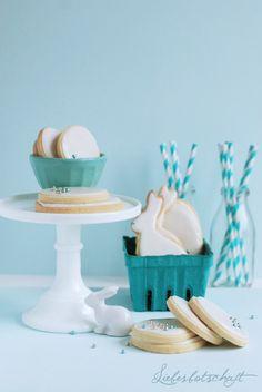Liebesbotschaft: Zitronige Mürbteig Kekse