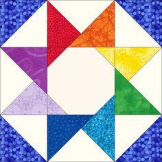 Rainbow Star Block