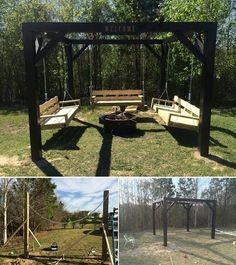 DIY Fire Pit Swing Set ...