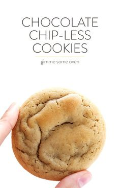"These soft and chewy Chocolate ""Chip-Less"" Cookies are everything you love about traditional CCCs...just without the chocolate chips! So delicious, especially when sprinkled with flaked sea salt. 