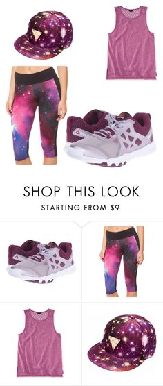 """""""purple athletic"""" by bwilliamson102976 ❤ liked on Polyvore featuring Reebok, Chicnova Fashion and Aéropostale"""