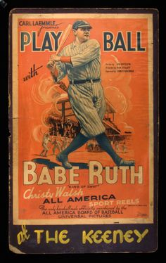 Play Ball With Babe Ruth posters for sale online. Buy Play Ball With Babe Ruth movie posters from Movie Poster Shop. We're your movie poster source for new releases and vintage movie posters. Baseball Posters, Baseball Art, Sports Baseball, Sports Art, Sports Posters, Baseball Movies, Baseball Teams, Baseball Stuff, Baseball Photos